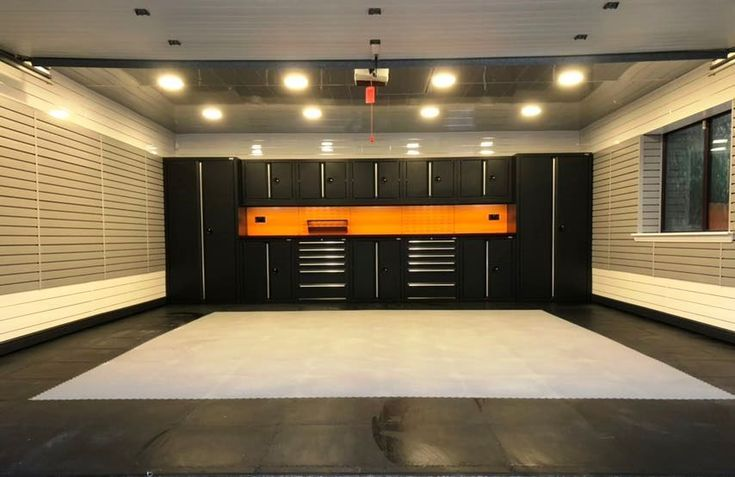 Standard Double Garage Fully Fitted Out Garage Design Interior Garage Design Garage Interior