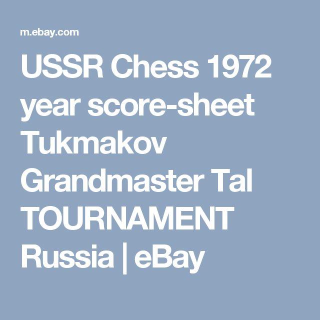 Ussr Chess  Year ScoreSheet Tukmakov Grandmaster Tal