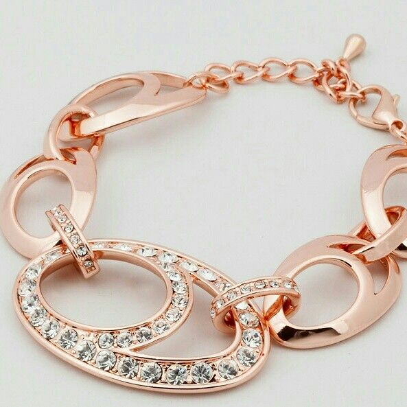 Rose Gold Necklace with Czechoslovakian Crystals