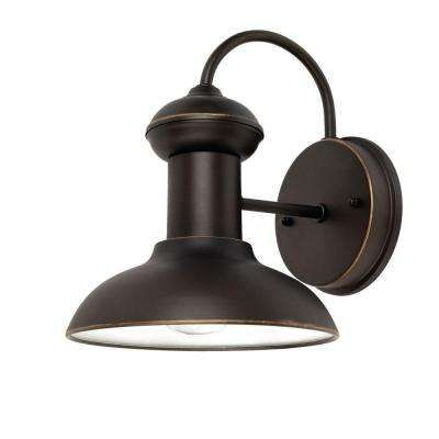 oil rubbed bronze downward wall mount entryway light