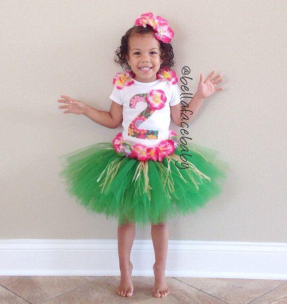 Hula Tutu Outfit // Hula Baby Outfit // Hula Girl by bellafacebaby, $55.00