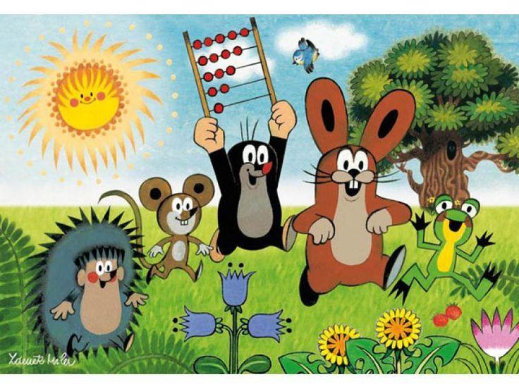 (2015-02) Muldvarpen løber med en kugleramme sammen med pindsvinet, musen, haren og frøen