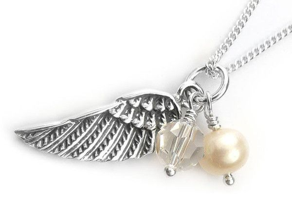 Silver Pendant - Angel Wing