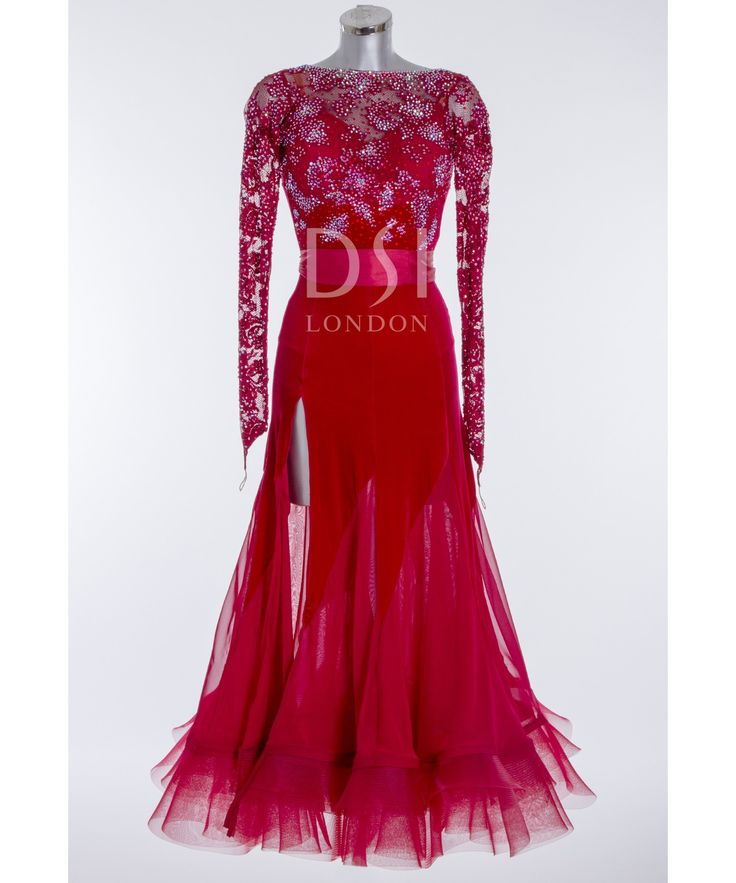 393543 Burgundy Ballroom Dress | Ballroom dresses for sale | Dance dresses for sale | Ladies | DSI London