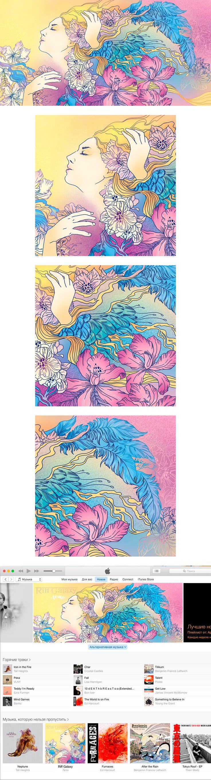 Illustrations fon music album cover