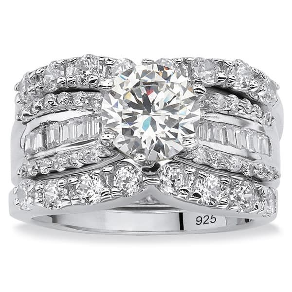Overstock Com Online Shopping Bedding Furniture Electronics Jewelry Clothing More Cubic Zirconia Wedding Rings Bridal Ring Sets Silver Wedding Rings