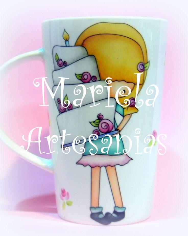 dulce nena (taza pintada a mano)