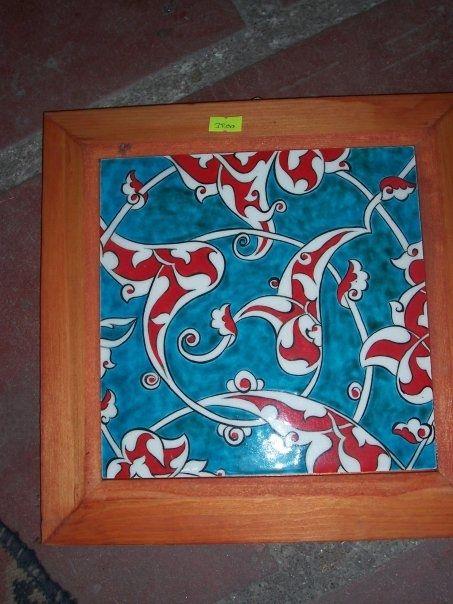 Ceramic plate ceramic tile çini tabak çini karo