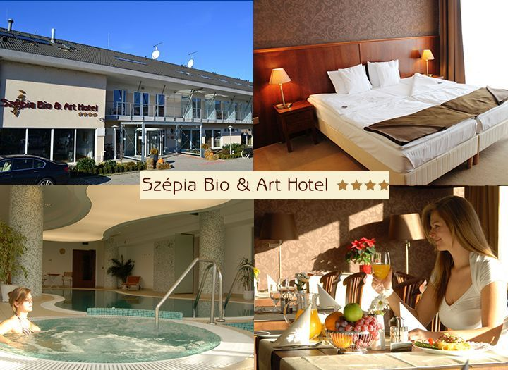 Mai utazás Belföld Kupon - 54% kedvezménnyel - Mai utazás Belföld - 2 napos pihenés a Szépia Bio & Art Hotelben****,  Zsámbékon! Most 1 éjszaka szállás 2 fő részére félpanziós ellátással, korlátlan wellness használattal kedvező áron 19 800 Ft-ért! Most fizetendő: 2 970 Ft!.