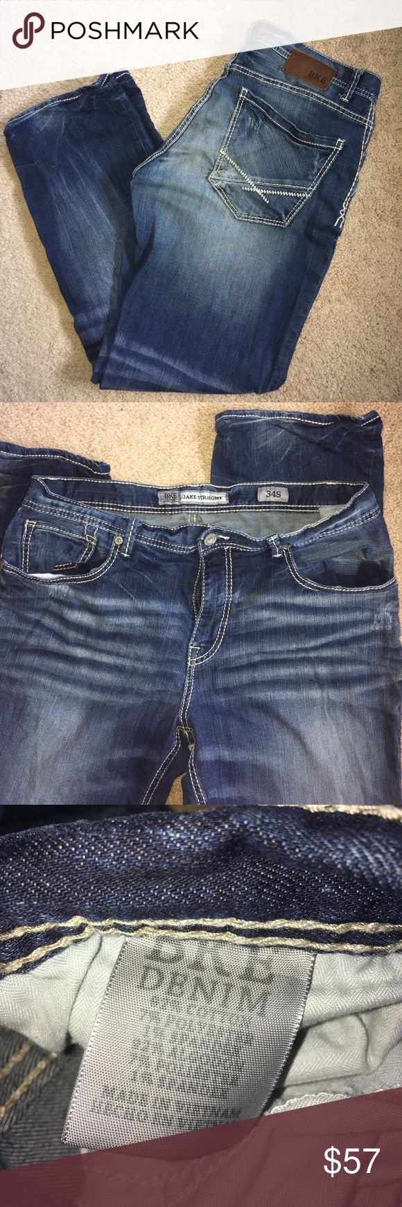 """BKE Guy's Jake 34 Straight Jake Straight 34S in like new condition! Inseam: 30"""". Buckle Store purchased. Questions please ask. Pet home/smoke free. 😎🤘🏻 Buckle Jeans Straight"""