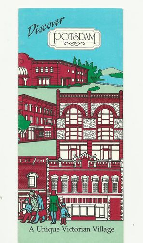#Potsdam New York #Vintage Visitors Brochure #Victorian Village #Map.