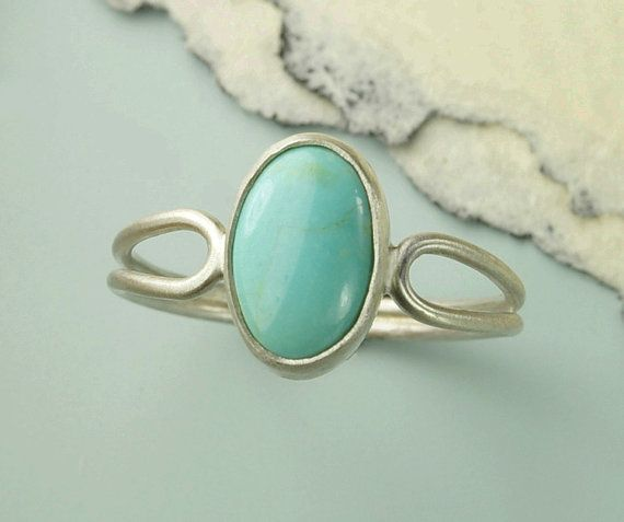 Turquoise Ring Robin's Egg Blue Turquoise Oval by BOBOJewelryShop, $42.00