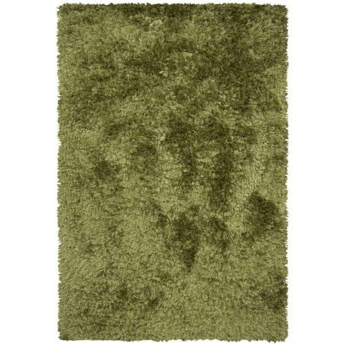 Chandra Rugs Celecot 4705 Green Wool Blend Shag Area Rug Hand Woven in India with Cotton Backing (8 x 10 1/2 (2/8 X 10 1))