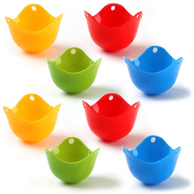 Amazon.com: HOMI CHEF Set of 8 Food Grade Silicone Egg Poaching Cups - Kitchen Egg Poachers Cookware - Poach Pods Silicone Egg Poacher - Colorful Poached Egg Cups - Non-Stick Egg Poacher Microwave BPA Free 6012: Kitchen & Dining
