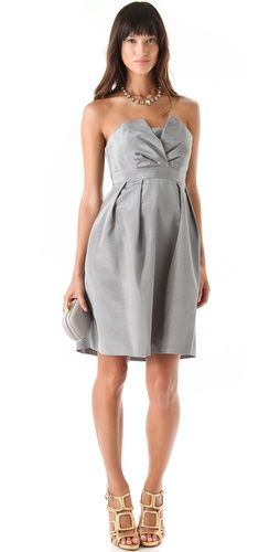 Fancy Liddy Strapless Dress Grey Bridesmaid DressesGrey DressesBridesmaidsWedding
