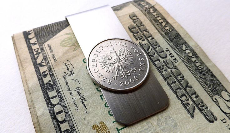 Coin money clip, Polish, Men's gifts, Money clip, Men's wallet, Men's accessory, Gifts for him, Coin clip, Eagles, Upcycled coin, Coin, 2009 by CoinStories on Etsy