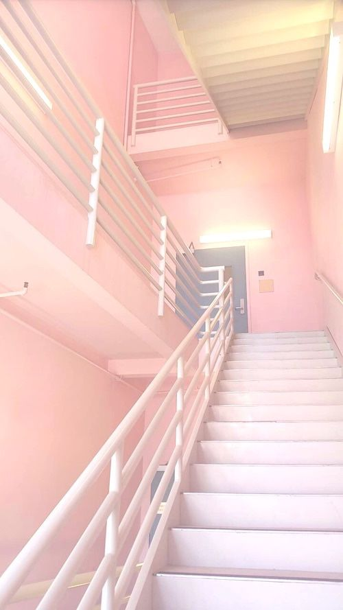 Let's take the pink stairs, they no doubt lead somewhere wonderful.