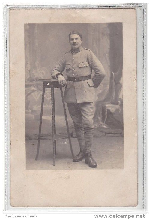 TROYES - CARTE PHOTO MILITAIRE