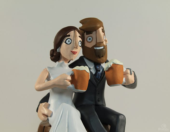 Race Horse Wedding Cake Toppers
