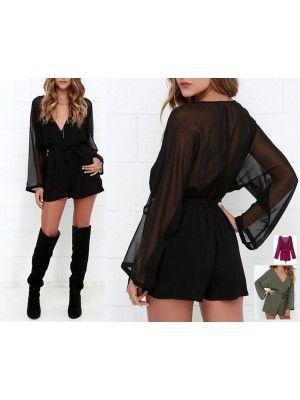 Vestito Tuta Pantaloncini in Chiffon 660013