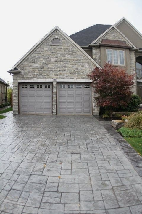 stamped concrete driveway ideas an incredible decor is usually to rh pinterest ca