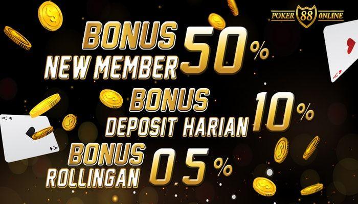 Pokeronline88 Bonus New Member 50 Permainan Kartu Poker Kartu