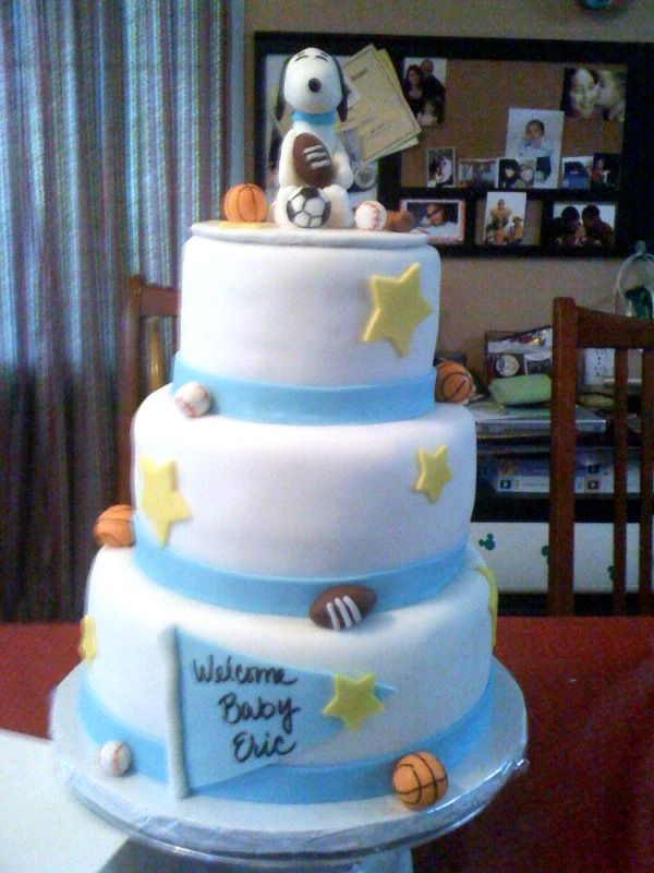 S and J Delights: Snoopy baby shower and cupcakes