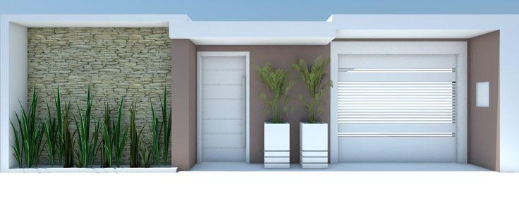 fachadas de muros simples e bonitos - Pesquisa Google