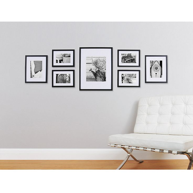 Buy Gallery Perfect Frame Set online at John Lewis    Going to re-create this with white frames and black & white pictures of our home and single portraits of all of us