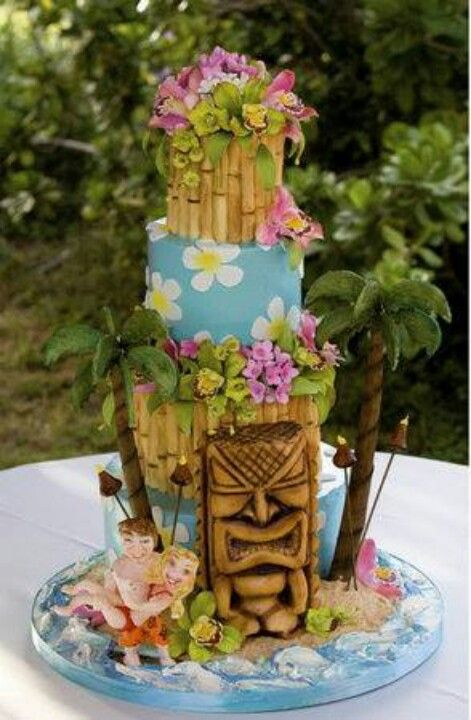 17 best ideas about hawaiian wedding cakes on pinterest beach wedding cakes luau wedding and. Black Bedroom Furniture Sets. Home Design Ideas
