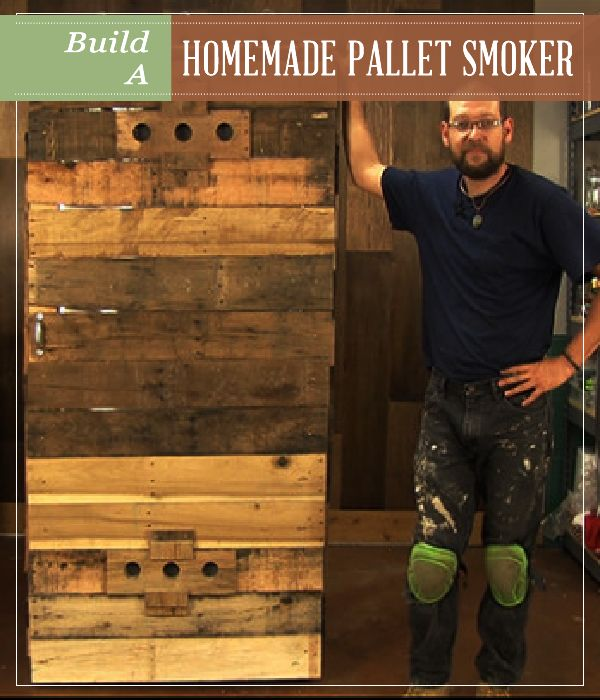 Homemade Pallet Smoker | Workshop | Workshop DIY Pallet Projects for Homesteading at pioneersettler.com