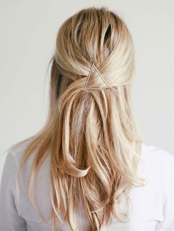 Ships FREE Geometric Hair Clip Minimalist Jewelry / by LeftbankSV