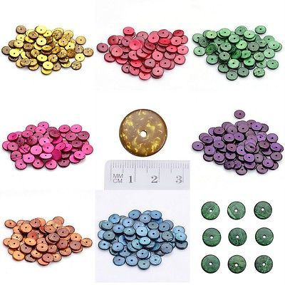 Wholesale Bulk Dia 18mm Wooden Flat Round Loose Charms Beads DIY Bracelet Crafts