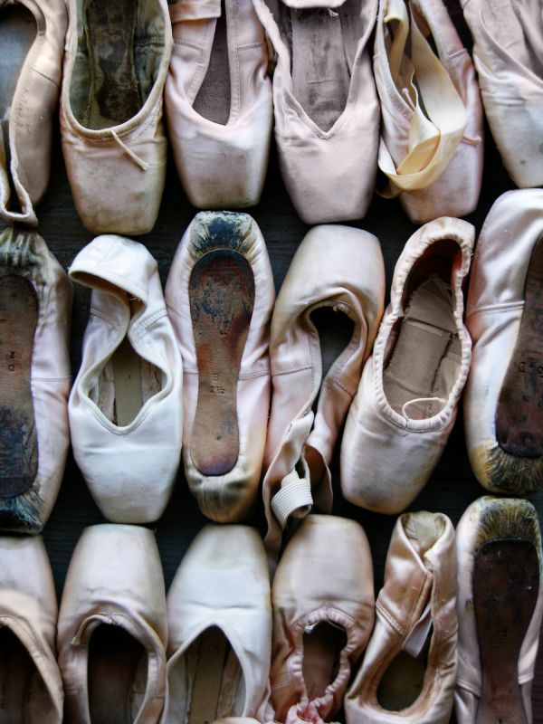 Worn pointe shoes, you can look back at them and see all the dance they carried you through.