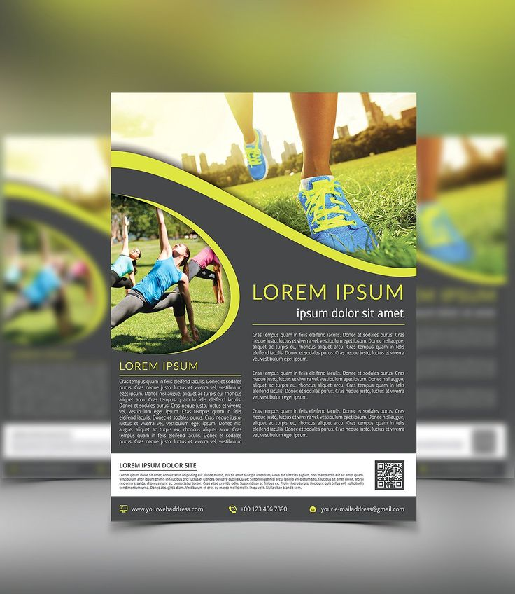 Fitness & Sport Flyer by themexriver on @creativemarket