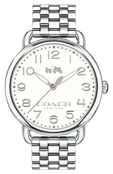 COACH 'Delancey' Round Bracelet Watch, 36mm available at #Nordstrom