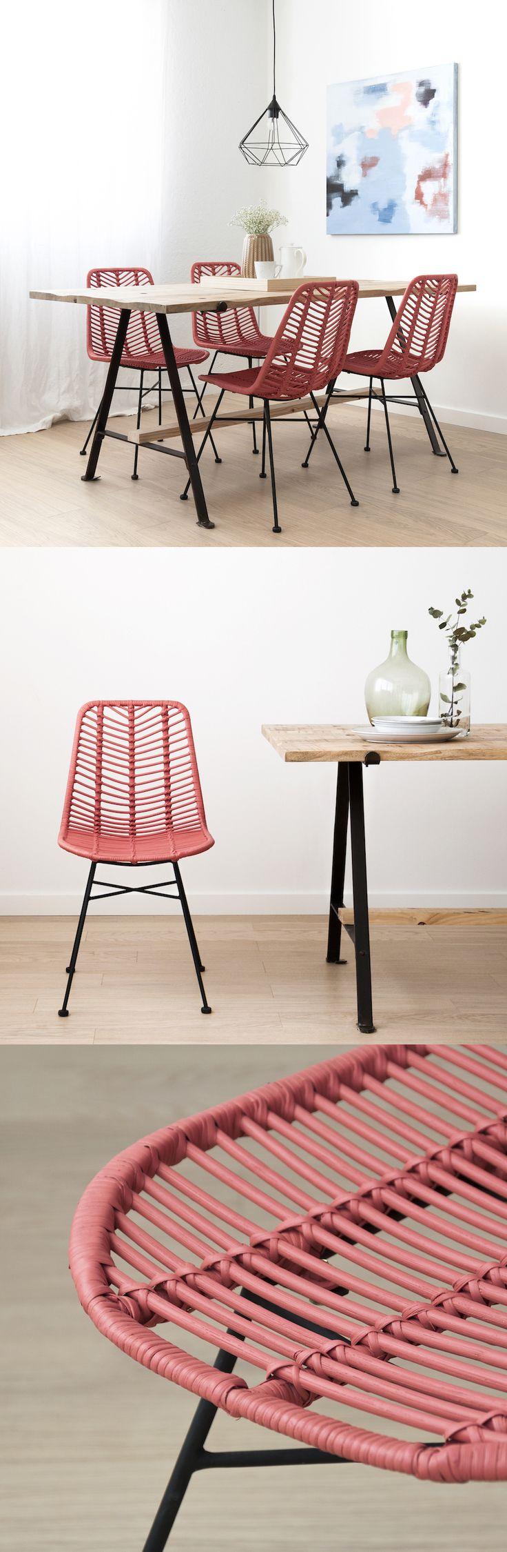 Las sillas Cali se van a convertir en un imprescindible en tu casa. Dale un toque natural y especial a tu comedor y terraza, serás la envidia de todos tus invitados.Las tenemos disponibles en 6 colores: blanco, coral, gris, natural, negro y verde. #inspiration #kenayhome