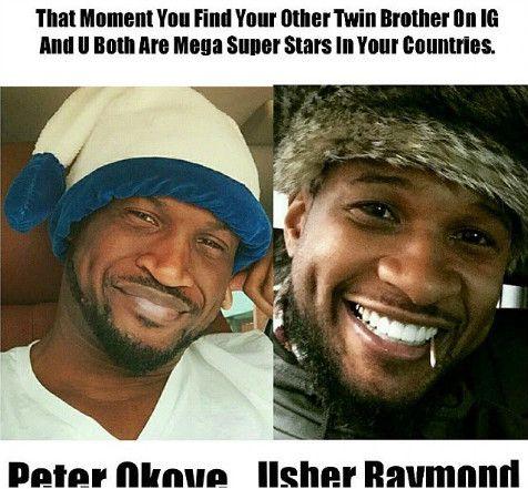 Peter Okoye and Usher Raymond