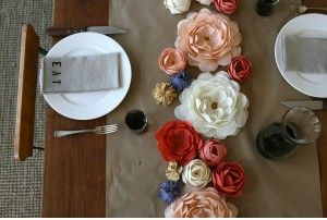 wedding paper flower centerpiece - via Lauren Gabrielle Photography