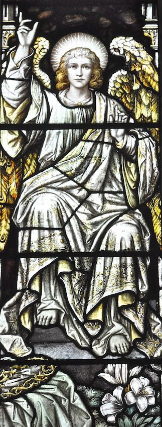 This is quite s striking Stained Glass window of the Archangel Gabriel, well I think its him because of the lilies in the corner. Tilney All Saints in Norfolk.