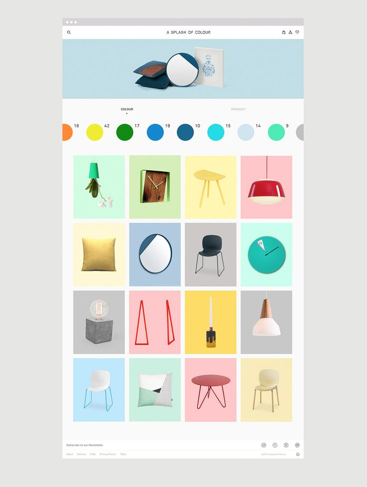 Innovative online shop where users can search homeware items by colour.  A Splash of Colour (ASOC) is an online shop, founded by Natasha, and it sells various well-selected, design-led homeware brand goods from accessories and furniture, to storage solutions.  SocioDesign got involved in creating the identity, website and art direction for this brand.As a result, users can filter items by colour or products with a simple and visually appealing way so that they can enjoy innovative…