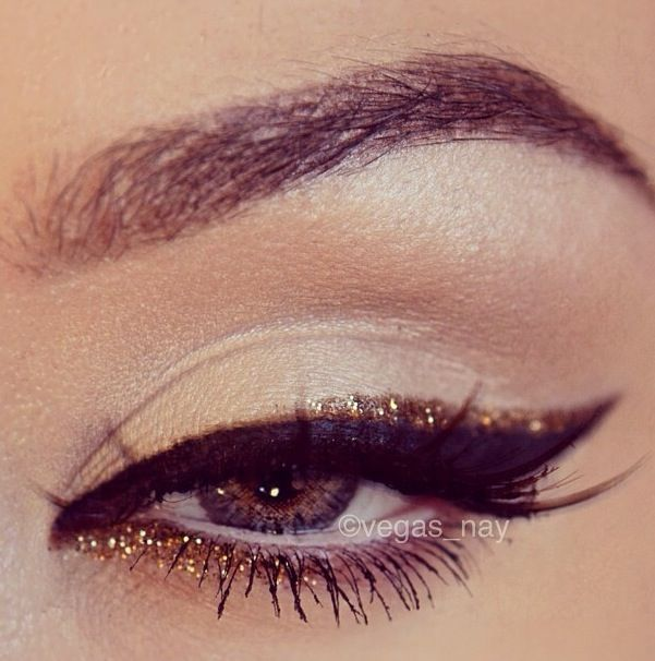 Double liner - black and gold - makeup