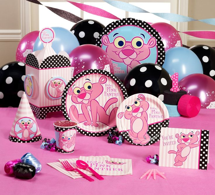 pink panther party set