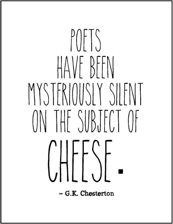 GK Chesterton literary quote typography print funny literature tongue in cheek w…