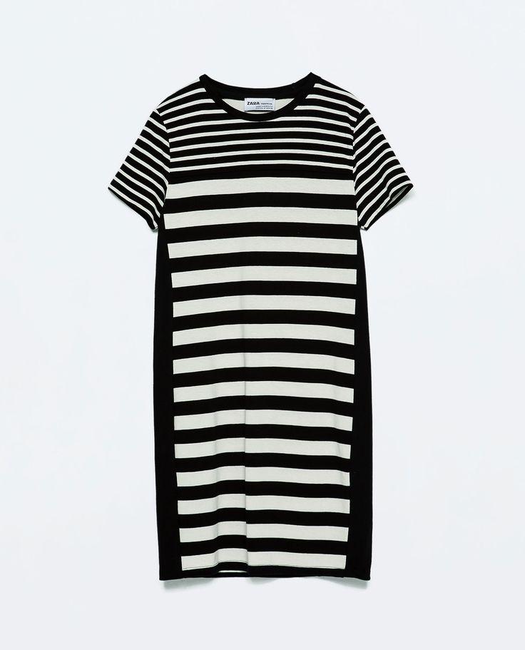ZARA - TRF - COMBINED STRIPED DRESS