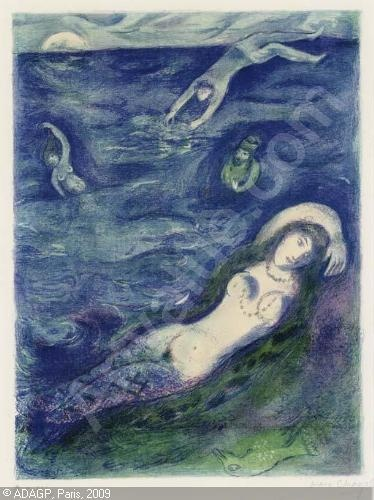 Mermaid, by Marc Chagall 1948 so I came forth of the sea
