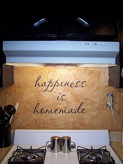 I like this vinyl quote for the kitchen :)