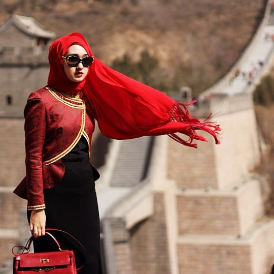 Red in The Great Wall of China
