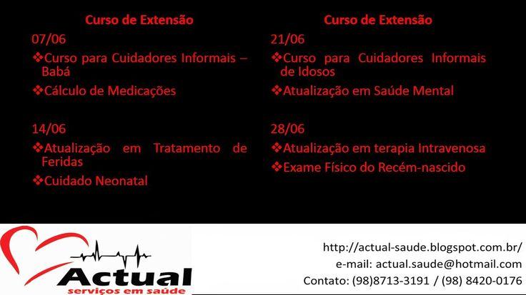 ACTUAL SERVIÇO EM SAÚDE: # Calendário - Junho/2014 #