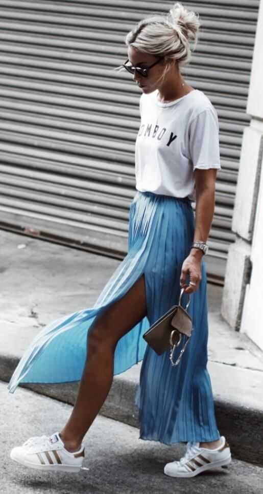 17 best ideas about pleated maxi skirts on